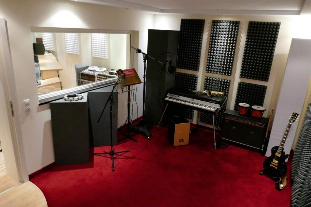 Melaminharzschaum - FSK, Stuttgart, Aufnahmeraum Bassabsorber - Tonstudio