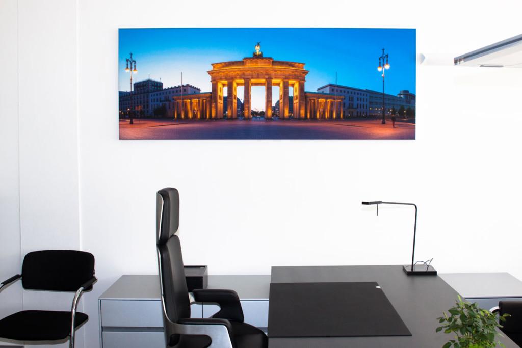Wandbild als Lärmschutz, Melaminharzschaum - FSK, Stuttgart, Schallabsorbierendes Wandbild Büro - Akustik Dämmung, Bauakusitk mit Melaminharzschaum