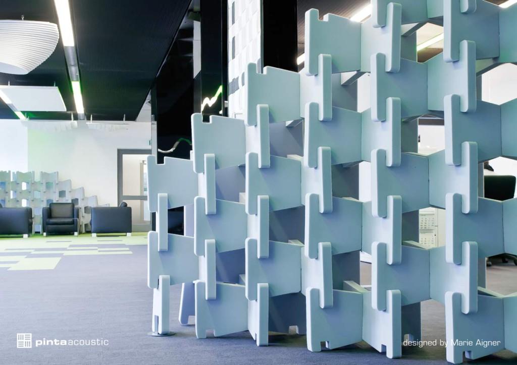 Melaminharzschaum Akustik - FSK, Stuttgart, -Acoustic Plug-&-Play - Stecksystem, Bauakusitk mit Melaminharzschaum